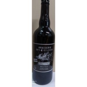 Bouteille de bière brune 4 Écluses Exutoire 75cl