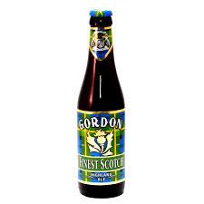 Bouteille de bière brune Gordon Finest Scotch 33cl