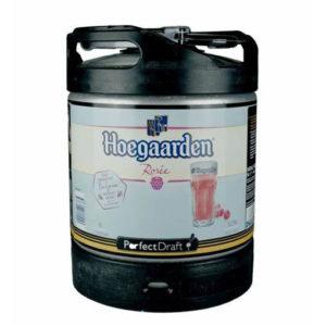 Fût PerfectDraft de bière Hoegaarden Rosée 6L
