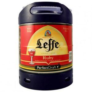 Fût PerfectDraft de bière Leffe Rubis 6L